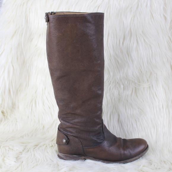 2942dc3ab6c Frye Shoes - Frye Melissa Button Back Zip Boots Dark Brown